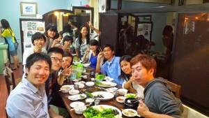 face to face english school korean restaurant